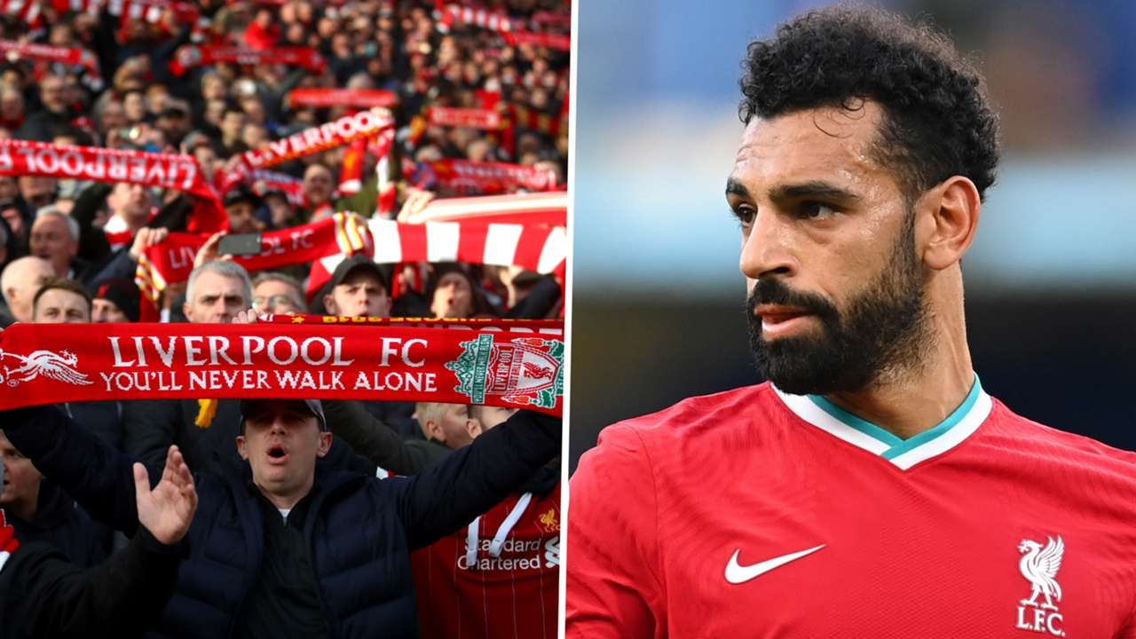 Liverpool fans Mohamed Salah 2020-21
