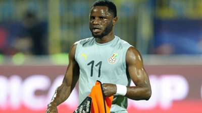 Mubarak Wakaso of Ghana warms up before the 2019 Africa Cup of Nations Finals game between Ghana and Benin at Ismailia Stadium in Ismailia, Egypt on 25 June 2019