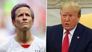 Megan Rapinoe, Donald Trump split