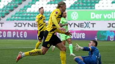 Erling Haaland Borussia Dortmund Wolfsburg Bundesliga 24042021
