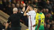 Premier League Sheffield Utd red card 2019-20