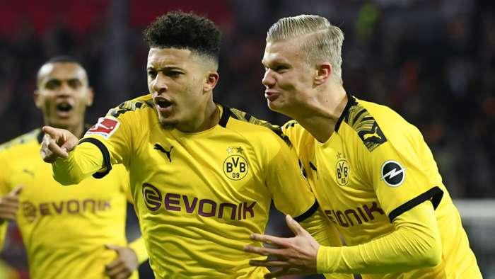 Jadon Sancho Erling Haaland Borussia Dortmund 2019-20