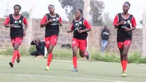 Harambee Starlets training to face Ghana.