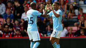 Jesus relieved to have Stones back in Man City defence but hails stand-in Fernandinho