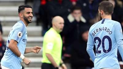 Mahrez Bernardo Manchester City