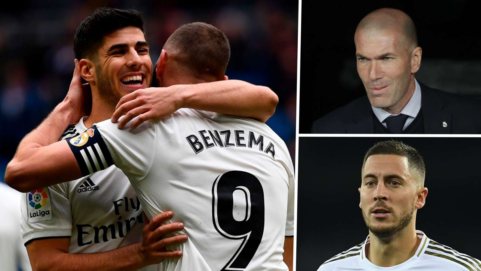 Marco Asensio Karim Benzema Zinedine Zidane Real Madrid GFX
