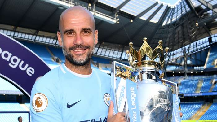 Pep Guardiola, Premier League trophy
