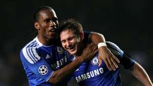 Didier Drogba Frank Lampard Chelsea 2012