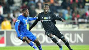 Onismor Bhasera, SuperSport United & Augustine Mulenga, Orlando Pirates, August 2018