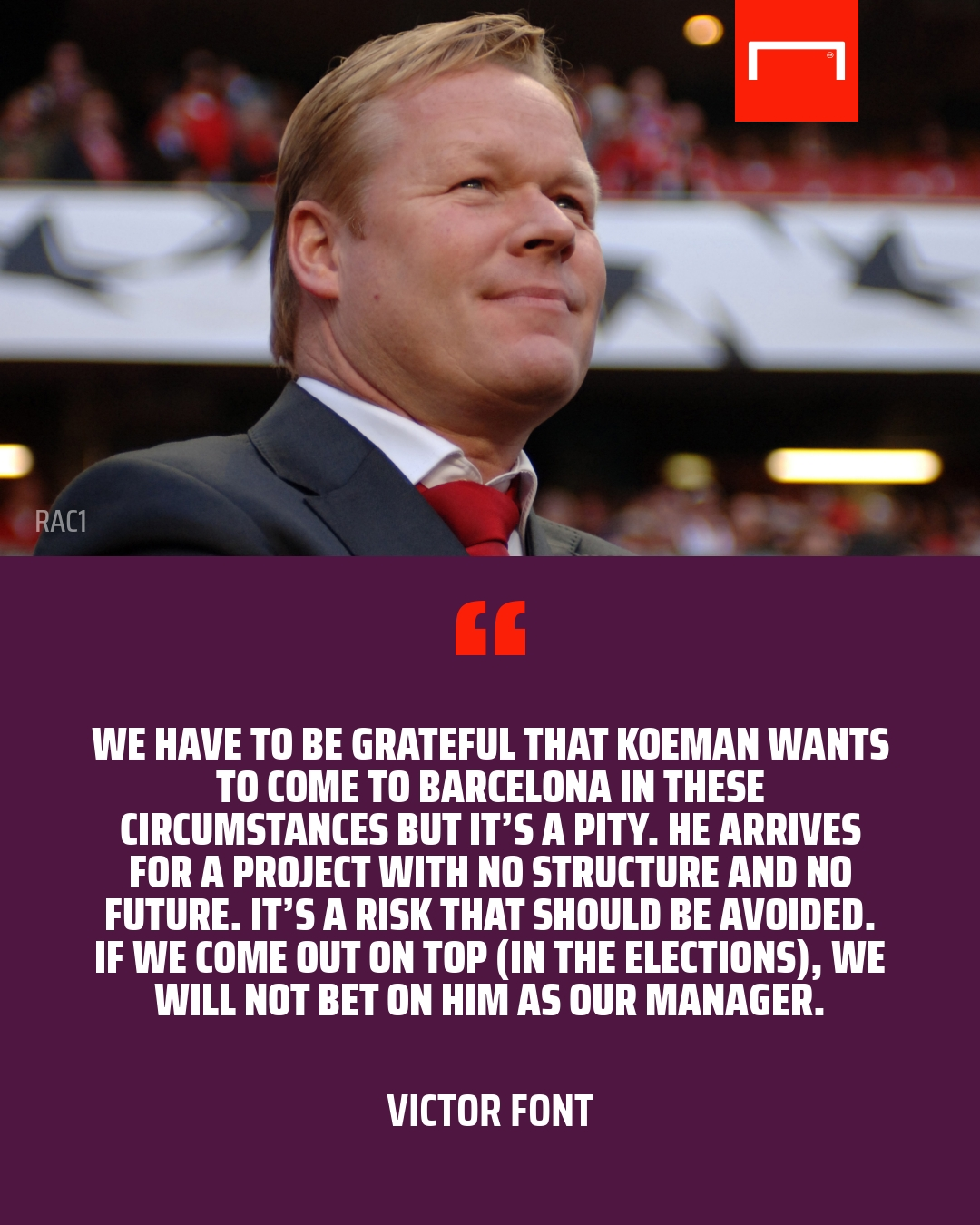 Barcelona officially announce Ronald Koeman as new manager, signs two-year contract
