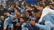 Lazio celebrating vs Roma
