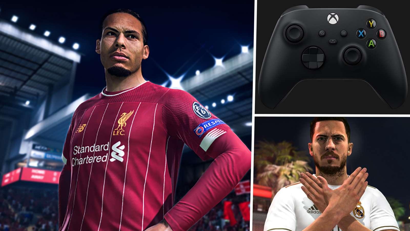 Virgil van Dijk Eden Hazard Xbox Series X FIFA
