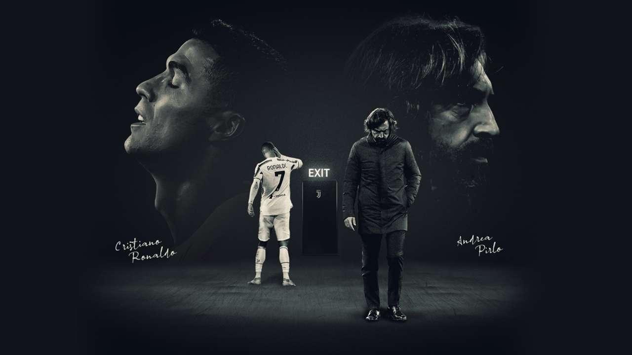 Ronaldo Pirlo Juventus divorce GFX
