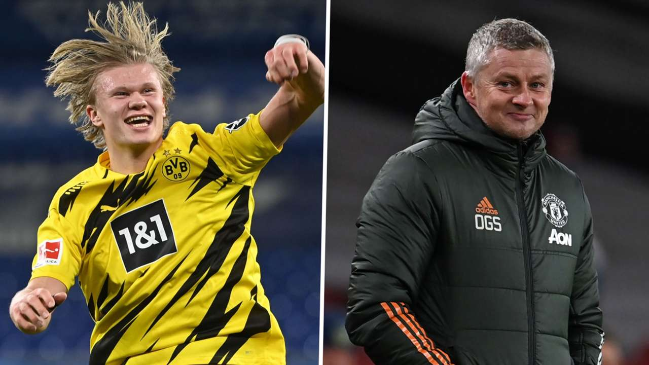 Erling Haaland Ole Gunnar Solskjaer Man Utd Dortmund GFX