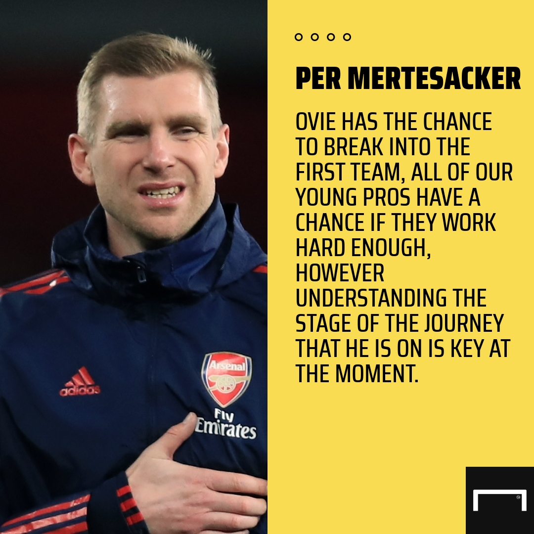 How 'driven competitor' Ejeheri can break into Arsenal's first team – Mertesacker