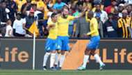 Gaston Sirino, Jeremy Brockie & Thapelo Morena, Mamelodi Sundowns, July 2018