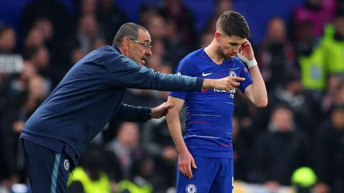 Maurizio Sarri Jorginho Chelsea Europa League 2019