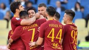 Roma celebrating
