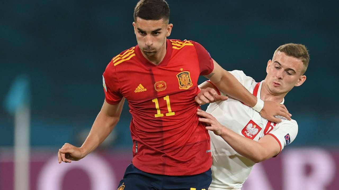 Kacper Kozlowski Poland Ferran Torres Spain Euro 2020