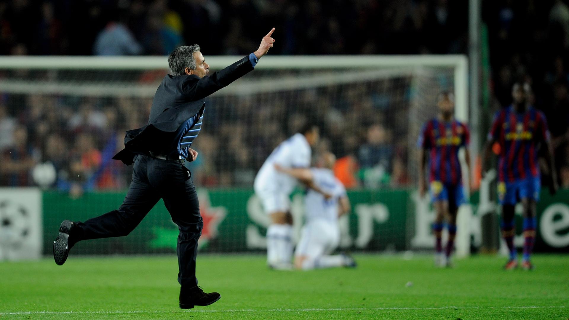 Jose Mourinho Champions League Inter Barcelona 2010