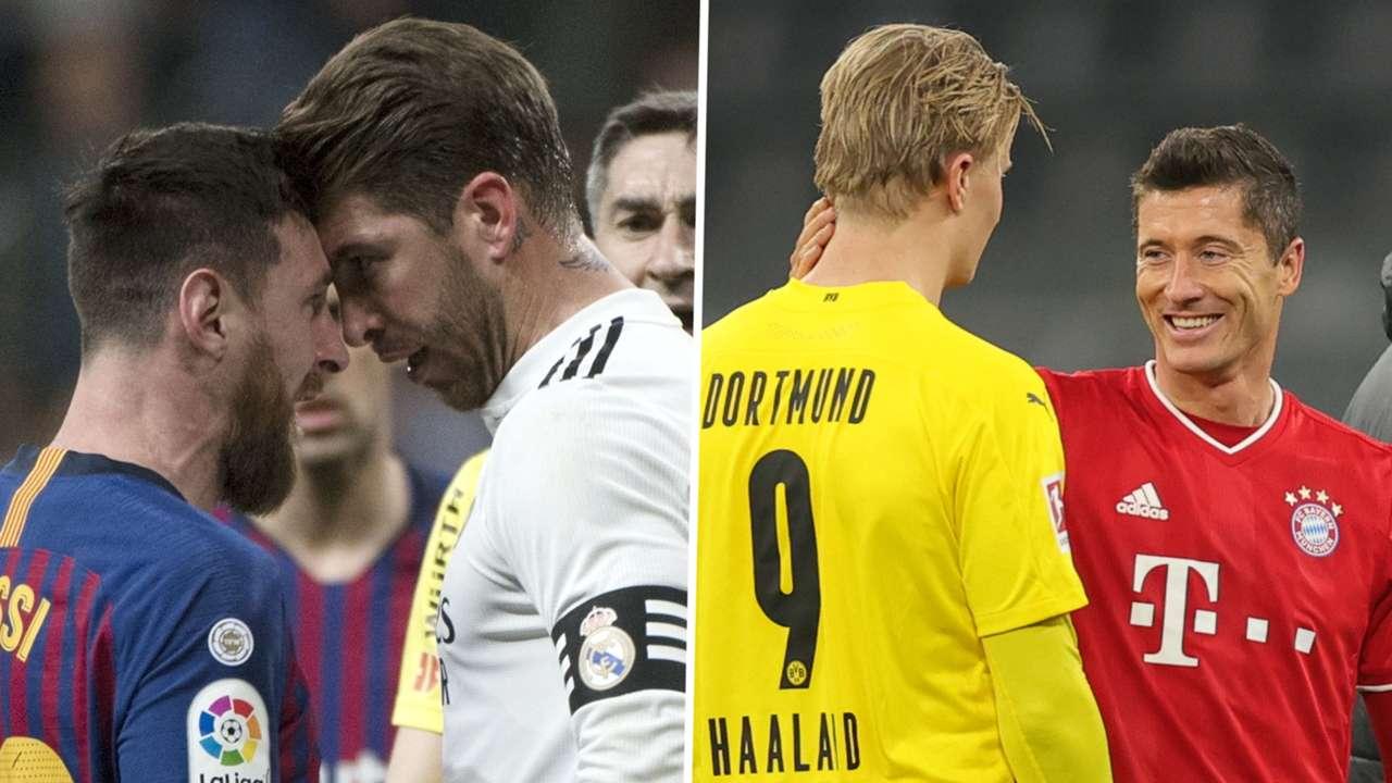 Lionel Messi Sergio Ramos Erling Haaland Robert Lewandowski