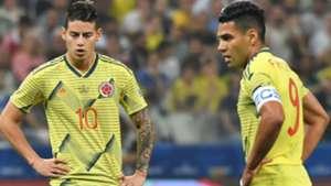 James Rodriguez Radamel Falcao Colombia