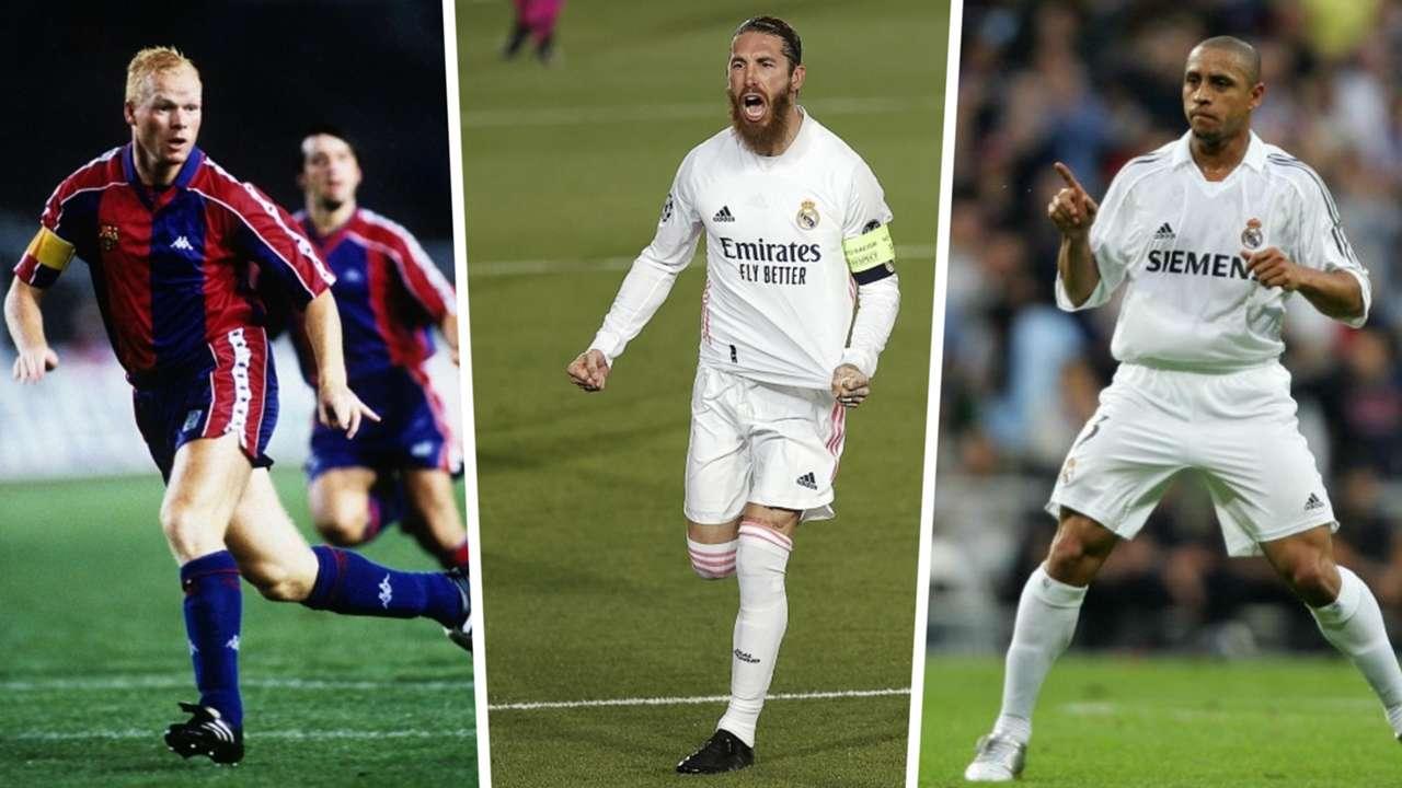 Ronald Koeman, Sergio Ramos, Roberto Carlos