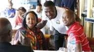 CS Amina MOhammed -Patrick Matasi-Nick Mwendwa of Kenya and Harambee Stars.
