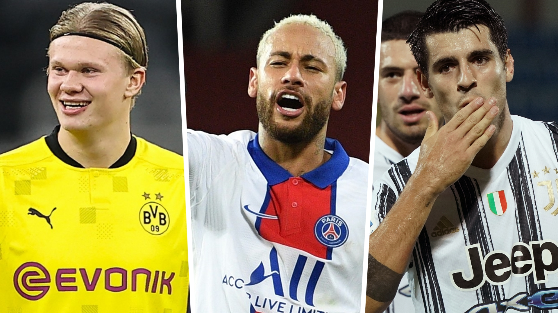 Champions League 2020-21 top scorers: Haaland, Neymar and Morata lead the way