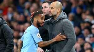 Pep Guardiola Raheem Sterling Manchester City Watford 09032019