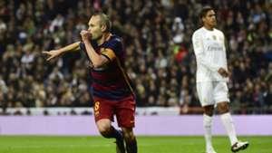 Andres Iniesta FC Barcelona Real Madrid El Clasico