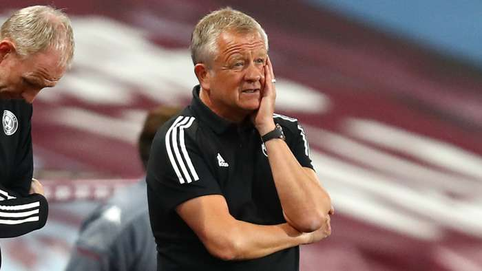Chris Wilder Sheffield United Aston Villa 2020-21