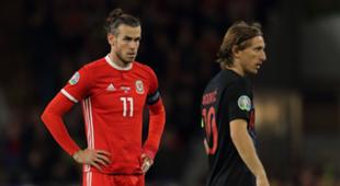 Gareth Bale Luka Modric Wales vs Croatia Euro 2020 Qualifiers