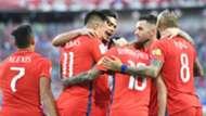 Chile celebrates Rodriguez goal Chile Australia Confederations Cup