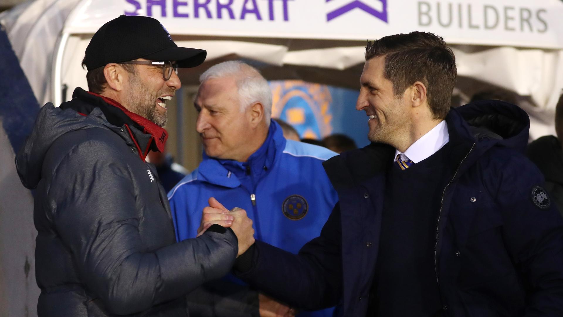 """Liverpool - Jürgen Klopp : """"C'est bien mérité pour Shrewsbury"""""""