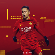 EMBED ONLY Justin Kluivert Roma GFX