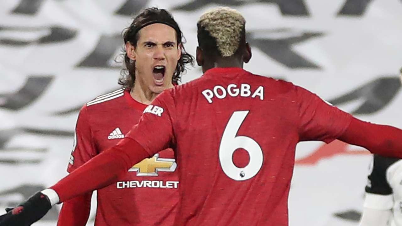 Edinson Cavani Paul Pogba Manchester United 2020-21
