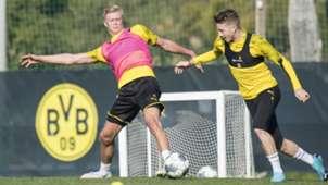 GER ONLY Marco Reus Erling Haaland BVB Borussia Dortmund Training