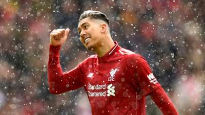 Roberto Firmino Liverpool 2018-19 sleet snow