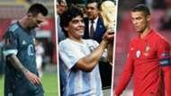 Lionel Messi Diego Maradona Cristiano Ronaldo