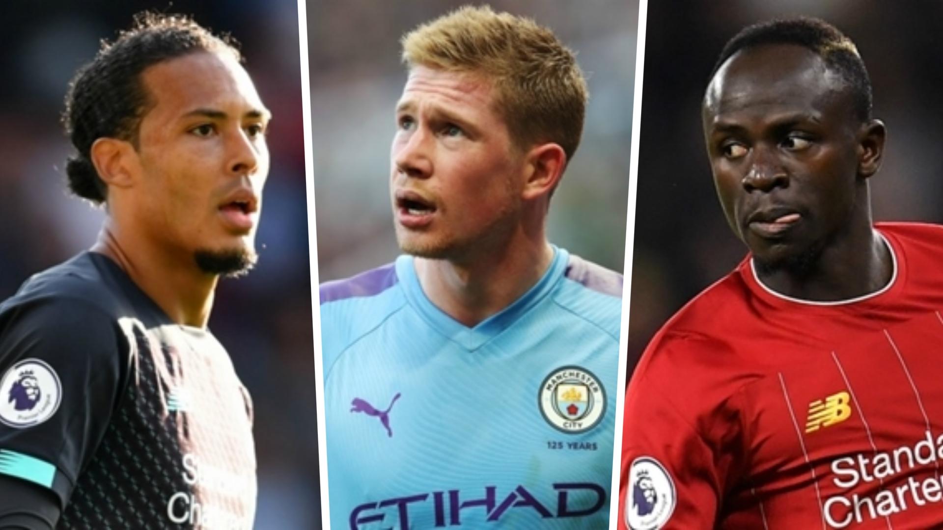 Mane, De Bruyne & Van Dijk make six-man shortlist for PFA Player of the Year  award