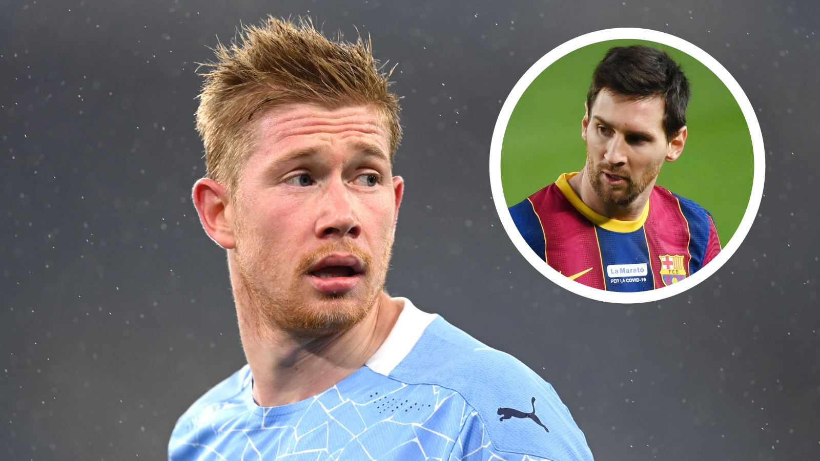 Man City warned De Bruyne will pose Messi problem as Sinclair sees Belgian stalling on new contract
