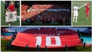 Homenaje a Eriksen en el Dinamarca vs. Bélgica de la Eurocopa 2021