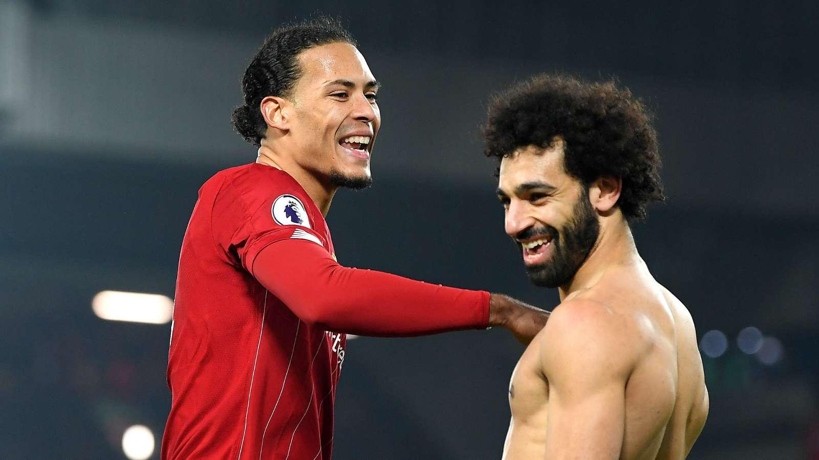 Virgil van Dijk Mohamed Salah Liverpool 2019-20