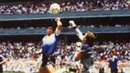 Diego Maradona Peter Shilton Hand of God 1986