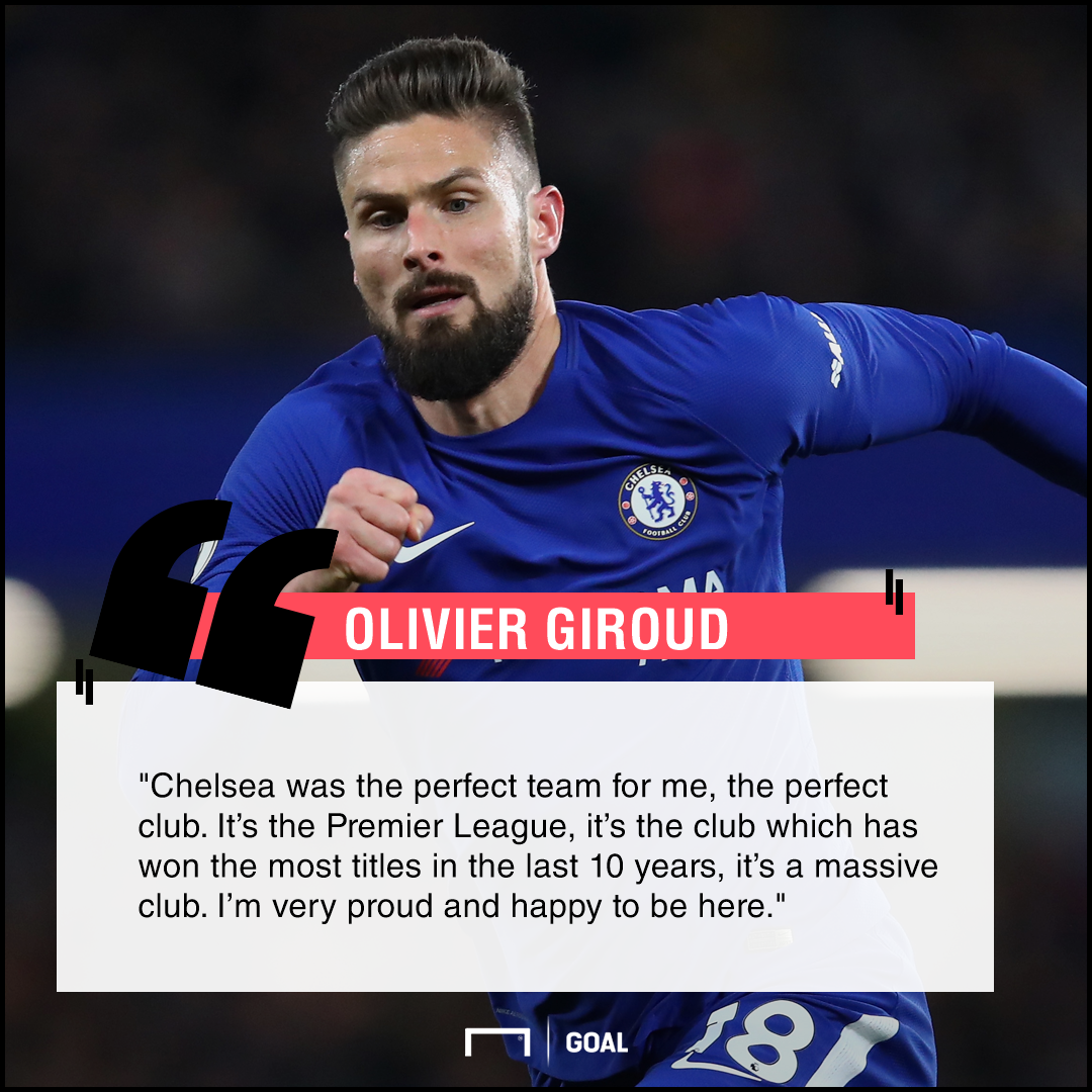 Olivier Giroud Chelsea perfect club