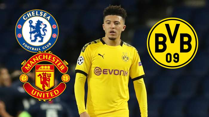 GFX Jadon Sancho Chelsea Dortmund Man Utd