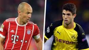 Arjen Robben Christian Pulisic Split