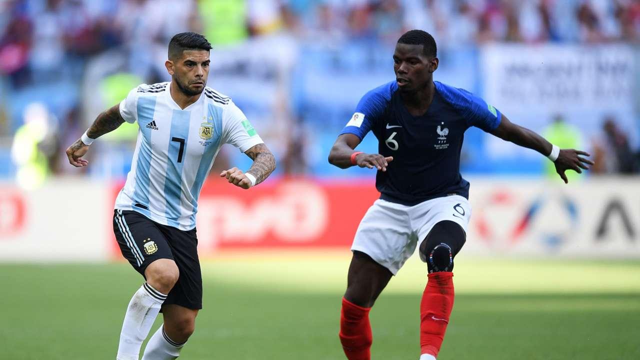 Ever Banega Paul Pogba France Argentina World Cup 2018 300618