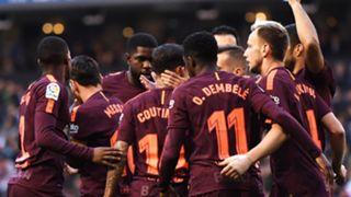 Barcelona celebrate vs Depor